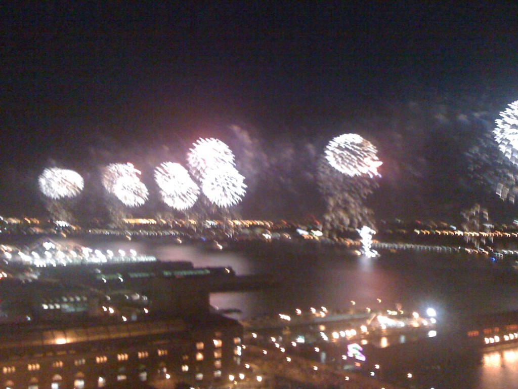 Fireworks over the Hudson River