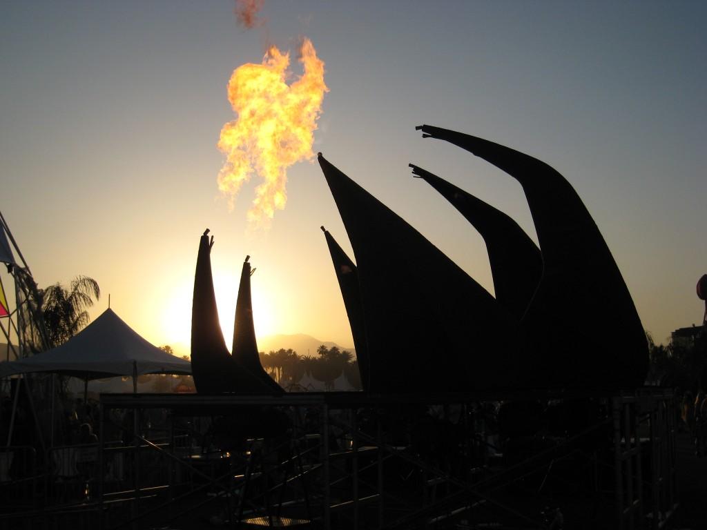 Fire at Coachella