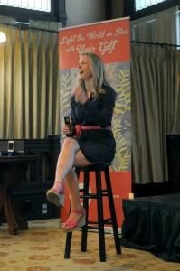 Jenny on stage