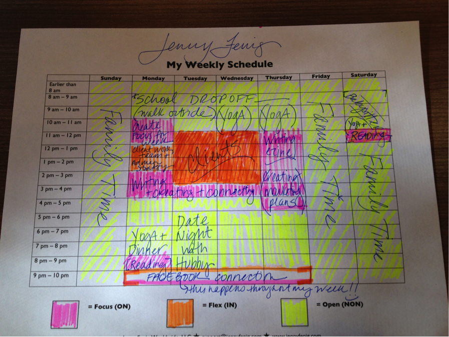 Jenny schedule