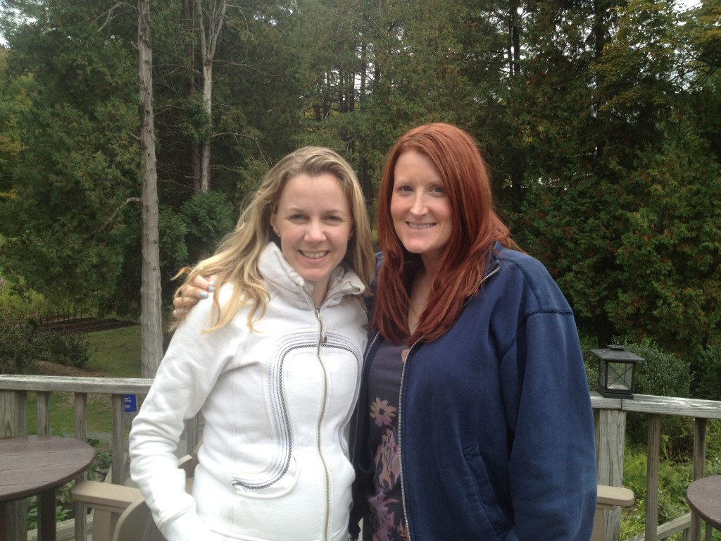 Me and Christine Gallagher at the Women + Power Retreat at Omega Institute. Fun girlie slumber party weekend.
