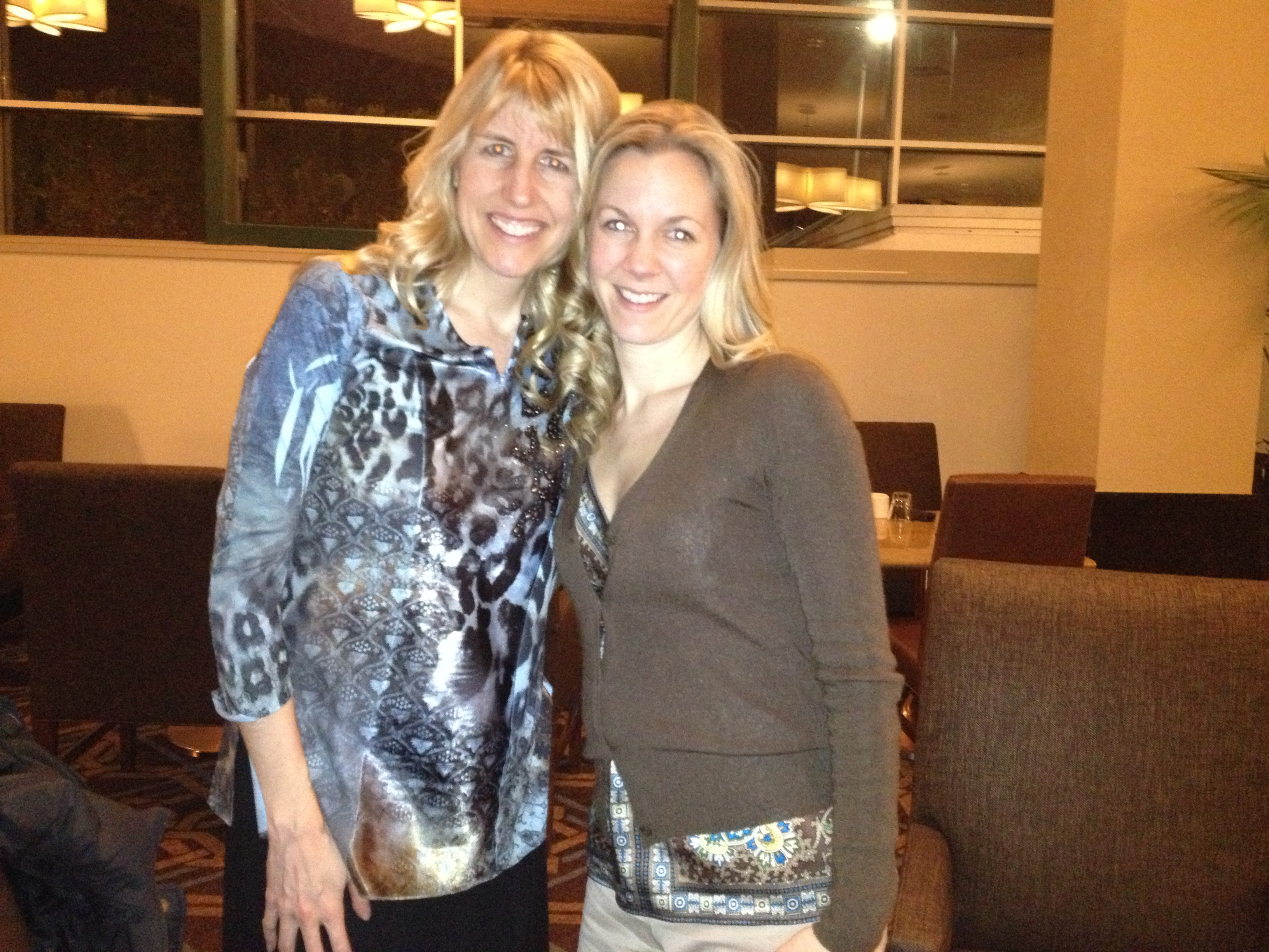 Me + Shelley Riutta, President and Founder of the Global Association of Holistic Psychotherapy and Coaching, hanging after a mastermind meeting