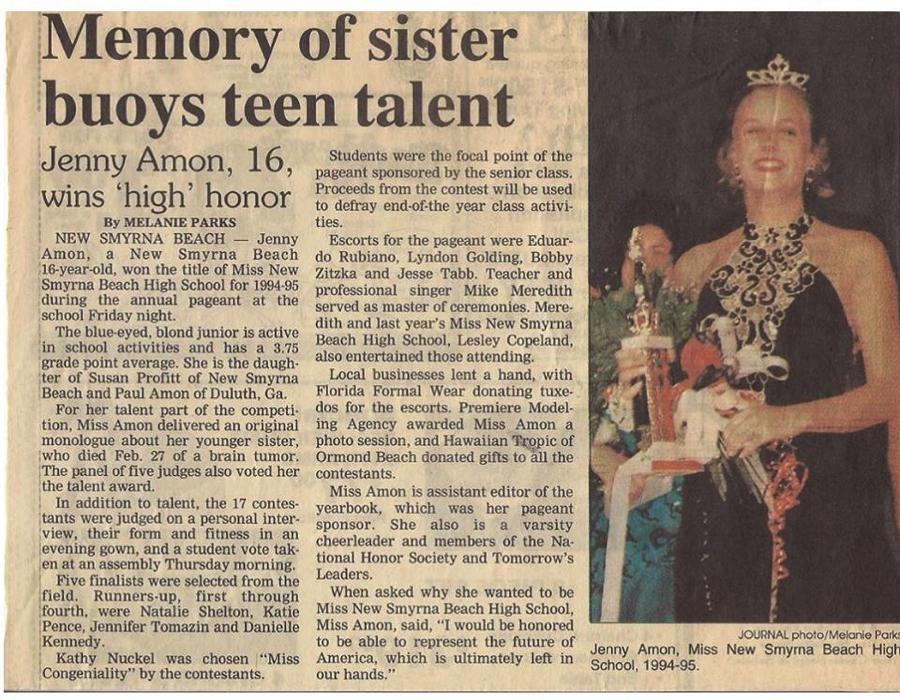 Jenny Newspaper article