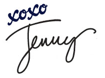 Signature xoxo Jenny